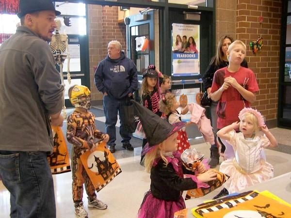 Families enjoying a previous Children's Halloween Party, which is sponsored each year by Homer Township.