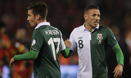 The moment Harry Wilson, left, came on as a substitute for Wales against Belgium on Tuesday night his grandfather made a bundle of money.