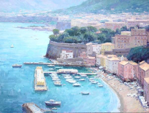 "Bryan Mark Taylor's ""Grand Overlook, Sorrento,"" from his ""Paintings From The Amalfi Coast."""