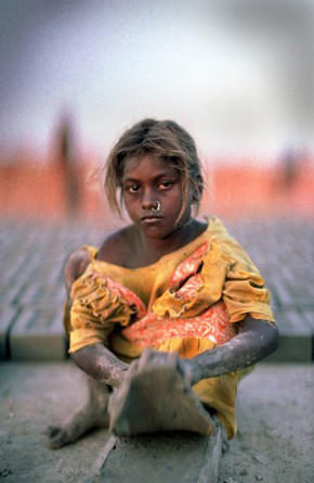 "The 2005 documentary movie ""Stolen Childhoods"" showed an enslaved, 9-year-old girl working at a brick kiln in West Bengal, India."