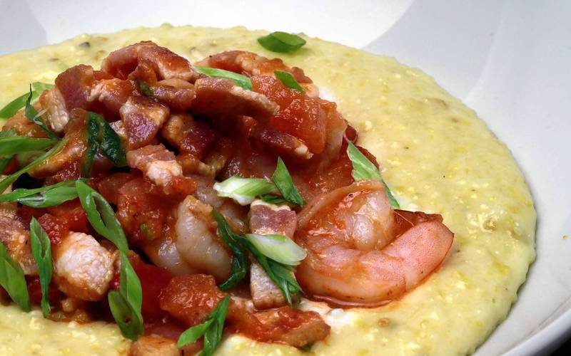 Stella's signature shrimp and grits