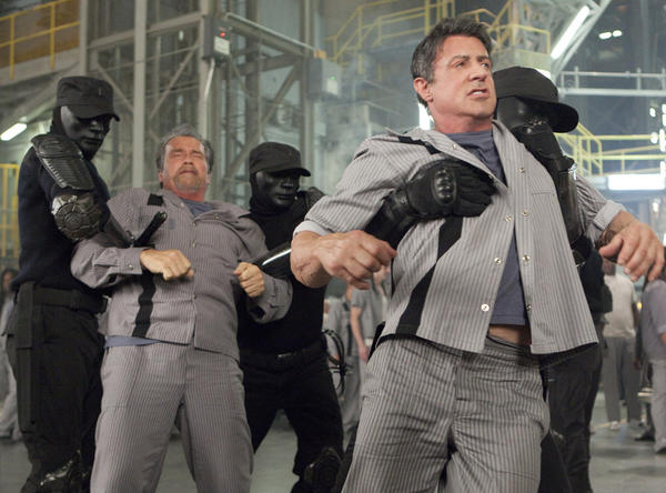 "A still from ""Escape Plan."""