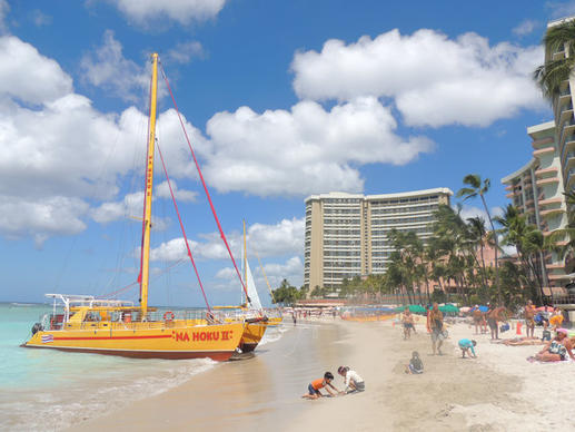 After  a recent widening project, there's more room for sunbathing and building sandcastles on a stretch of Waikiki Beach.