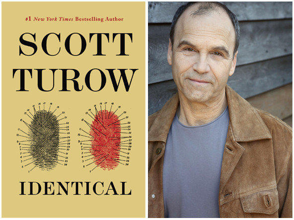 "The cover of ""Identical"" and author Scott Turow."