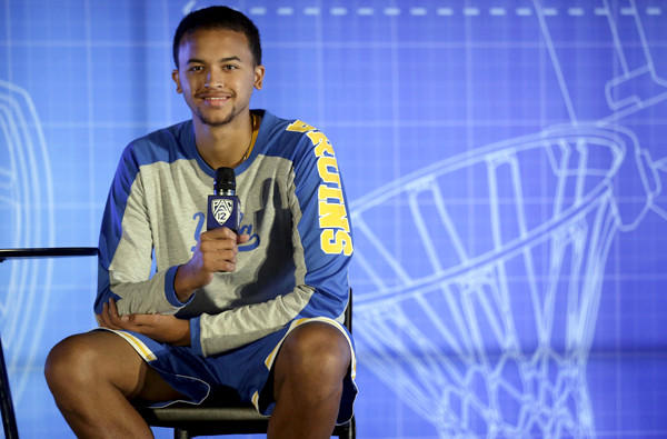 UCLA sophomore Kyle Anderson fields questions during the the Pac-12 Conference basketball media day in San Francisco on Thursday.