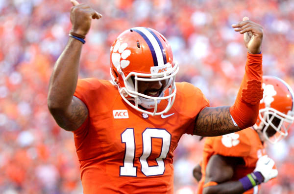Quarterback Tajh Boyd and Clemson have had plenty to celebrate this season, opening with a 6-0 record.