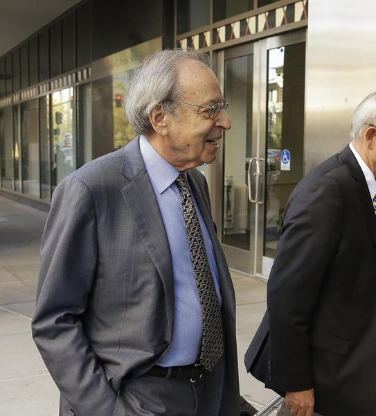 Federal mediator George Cohen, left, arriving for Bay Area Rapid Transit negotiations.