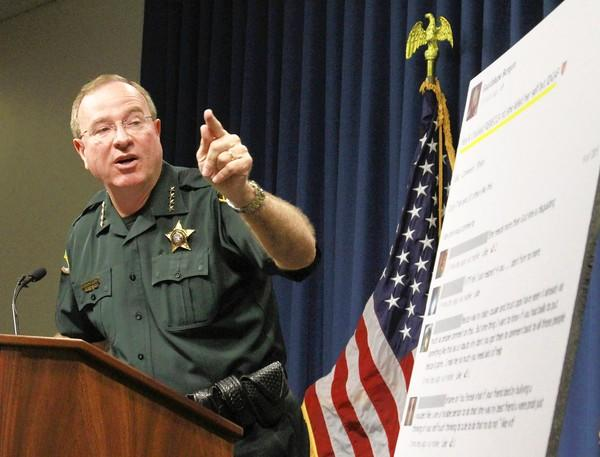 Polk County Sheriff Grady Judd talks about the events leading up to the arrest of two juveniles in a bullying case.