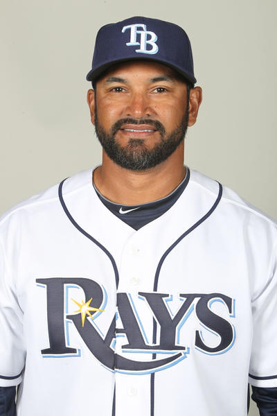 Rays bench coach Dave Martinez on photo day 2013.