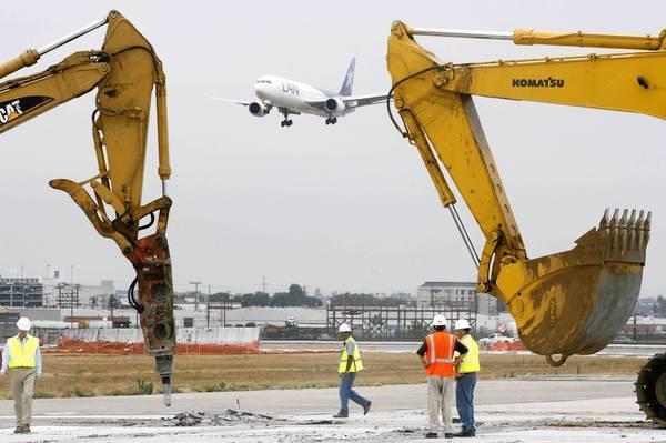 Southern runway work