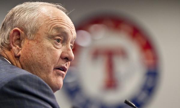 Baseball great Nolan Ryan announced his resignation as chief executive of the Texas Rangers on Thursday.