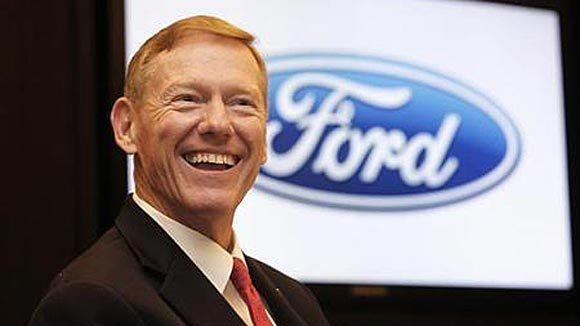 Ford Motor Co. CEO Alan Mulally smiles during an interview in Bangkok in 2011.