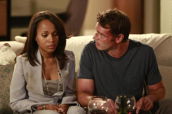"Kerry Washington and Scott Foley star in ""Scandal."""