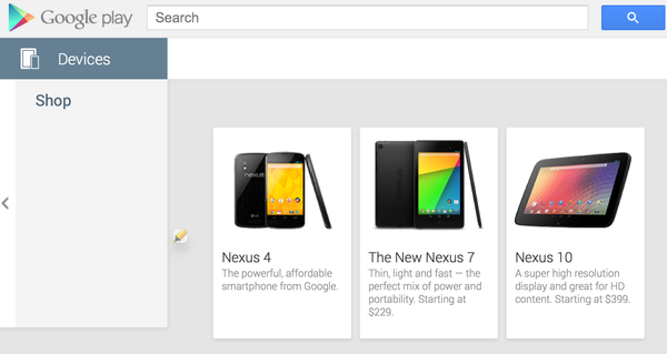 Google replaced its image and description of the Nexus 4 on Google Play on Thursday night with one of the Nexus 5 for a brief period. The change appears to have been made by accident and was quickly reverted.