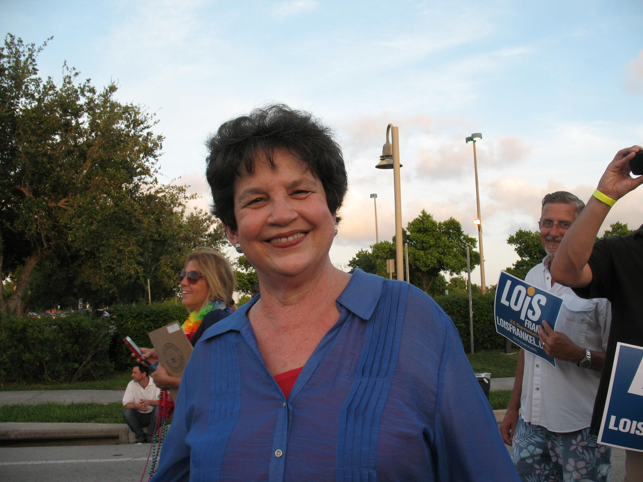 U.S. Rep. Lois Frankel at gay pride parade in Wilton Manors.