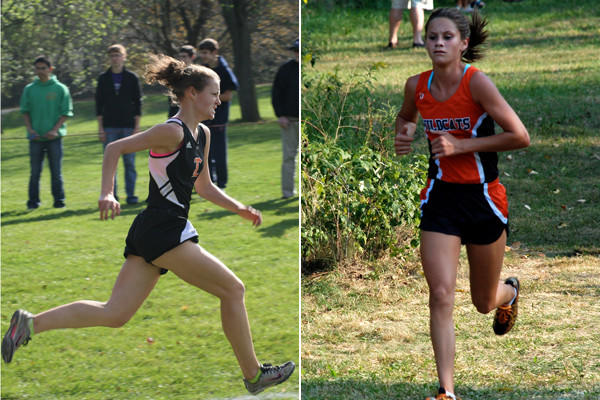 Libertyville cross country runners Emily Moroz (left) and Kristi Del Prato (right) are taking on increased leadership roles this season.