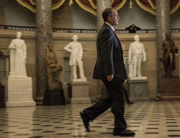 Speaker of the House John A. Boehner (R-Ohio) walks through the Capitol.