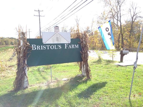 The sign at the entrance to Bristol's Farm in Canton.