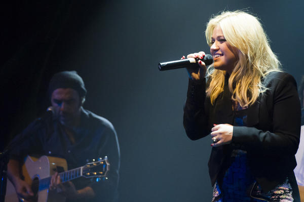 "Kelly Clarkson released the first single from her upcoming holiday album, ""Wrapped in Red."""