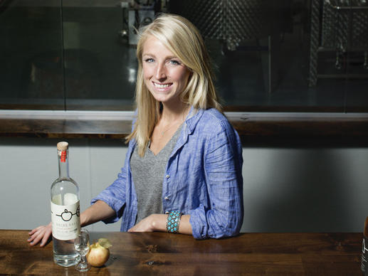 Co-founder Jennifer Solberg of Rhine Hall distillery.