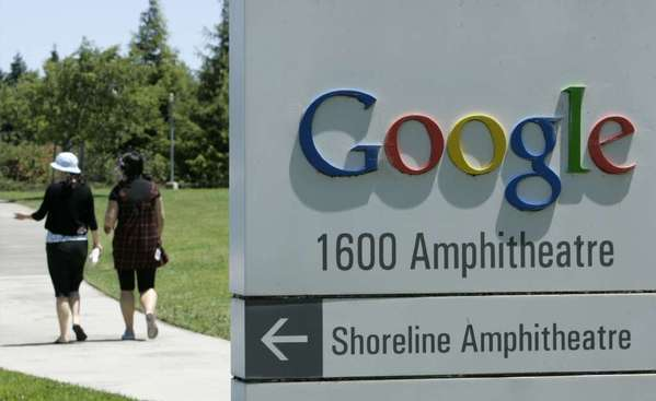A part of Google's Mountain View, Calif., campus in 2007. Google on Friday announced an advertising warm-up with Facebook.