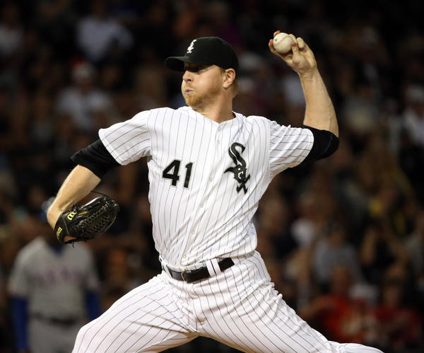 Chicago White Sox relief pitcher David Purcey.