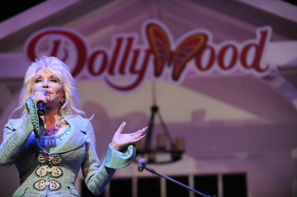 Dolly Parton, proprieter of Dollywood, had a surprise for Queen Latifah.