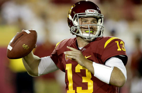 USC quarterback Max Wittek prepares to pass against Washington State during the second half of a game earlier this season.