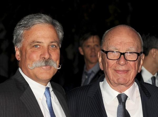 Shareholders of 21st Century Fox voted to return to the board Chief Operating Officer Chase Carey, left, and Chairman and Chief Executive Rupert Murdoch.
