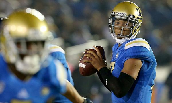 UCLA quarterback Brett Hundley could try to make a lot of short-yardage passes against Stanford on Saturday.
