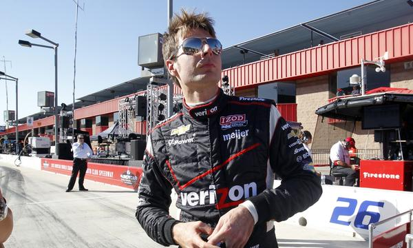 Will Power will start Saturday's IndyCar Series season finale at Auto Club Speedway from pole position.
