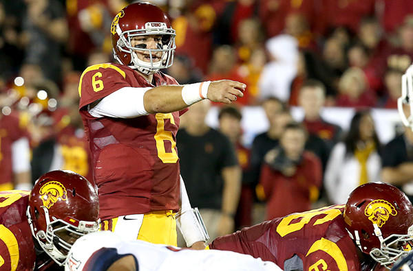 Quarterback Cody Kessler directs the Trojans offense against Arizona.