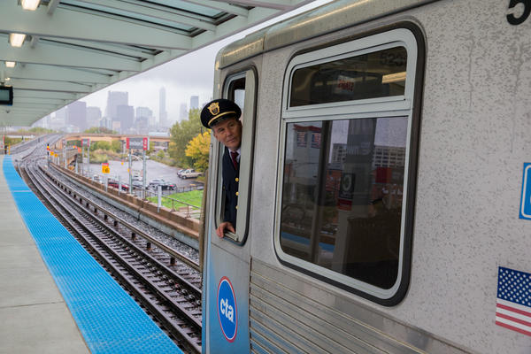John Zupko is behind controls during a test run of the CTA Red Line South Branch in Chicago on Thursday, Oct. 17, 2013.