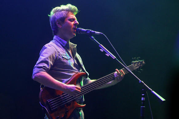 Phish's Mike Gordon performs at the Hampton Coliseum.