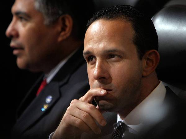 L.A. City Councilman Mitchell Englander is shown. A former staffer says Englander ignored her complaints and made improper remarks when she expressed interest in working on public safety issues.