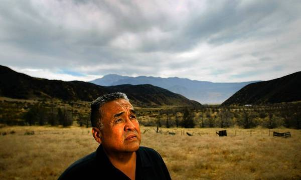Maurice Lyons is shown in 2003 at a property known as Wild Bear Ranch, where he once hunted with his father and grandfather. He was chairman of the Morongo Band of Mission Indians from 2001 until 2006.