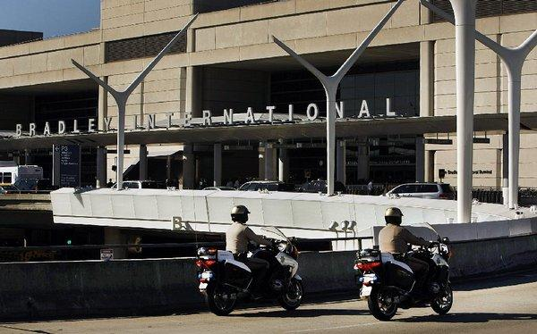 Security was normal at the Tom Bradley International Terminal at Los Angeles International Airport on Tuesday after a bottle with dry ice exploded there.