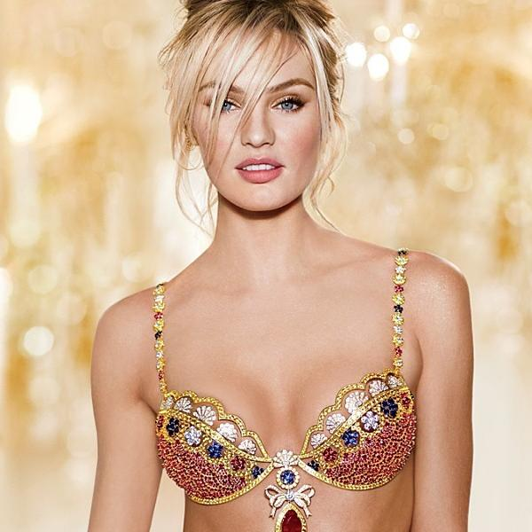 Candice Swanepoel, a Victoria's Secret Angel model, wears this year's $10-million Fantasy Bra.