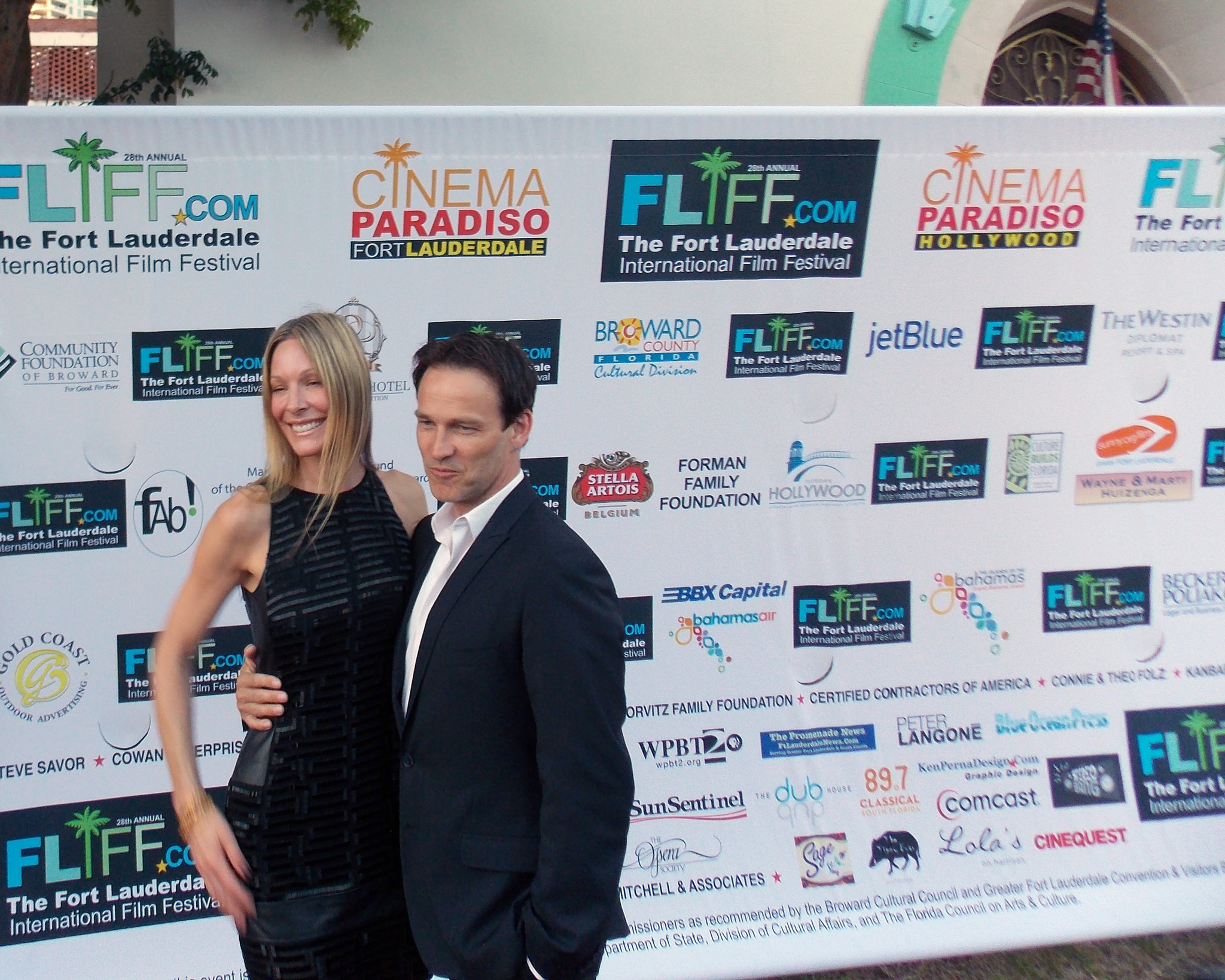 FLIFF opening night - Shana Betz and Stephen Moyer