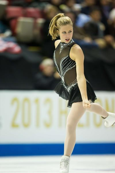 Ashley Wagner swaggers through her short program at Skate America.