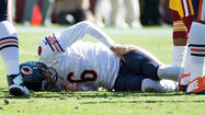Bears' Jay Cutler injured on record-setting sack