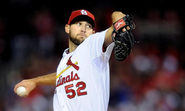 St. Louis Cardinals rookie right-hander Michael Wacha earned two victories against the Dodgers in the National League Championship Series.