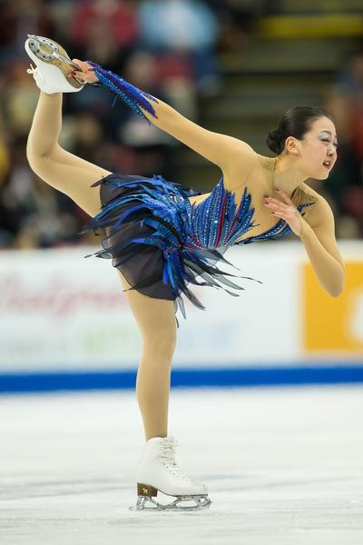 Japan's Mao Asada winning Skate America.