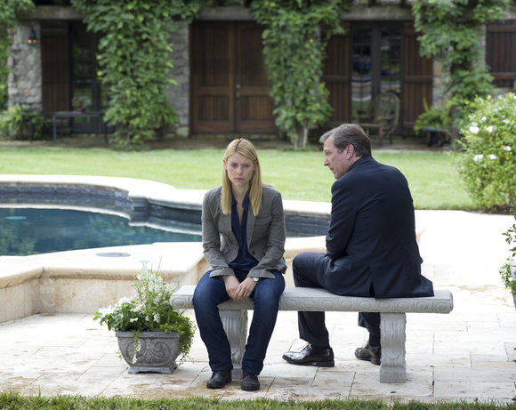 Carrie Mathison and Leland Bennett on 'Homeland'