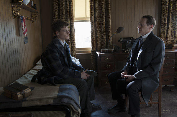 "On ""Boardwalk Empire,"" Willie Thompson (Ben Rosenfield) abandons college and turns to his uncle Nucky (Steve Buscemi) for a job."
