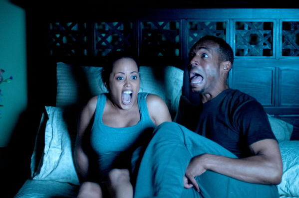 "Essence Atkins (left) and Marlon Wayans in ""A Haunted House"""