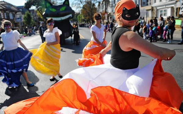 Flor Belez dances in the parade with Puerto Rican Culture Preservation Inc. The Allentown Halloween Parade took place Sunday afternoon.
