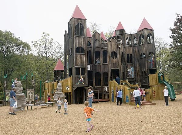 Kids Castle, an iconic eight-level play structure in Doylestown Township's Central Park.