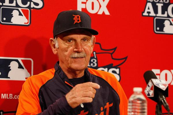 Detroit Tigers manager Jim Leyland during news conference before Game 6 of the American League Championship Series against the Boston Red Sox.