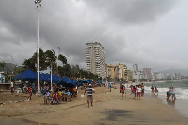A view of the clouded sky caused by the Hurricane Raymond in Acapulco, Mexico.